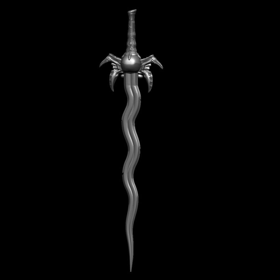 Sword Soul Reave for 3d printing royalty-free 3d model - Preview no. 19