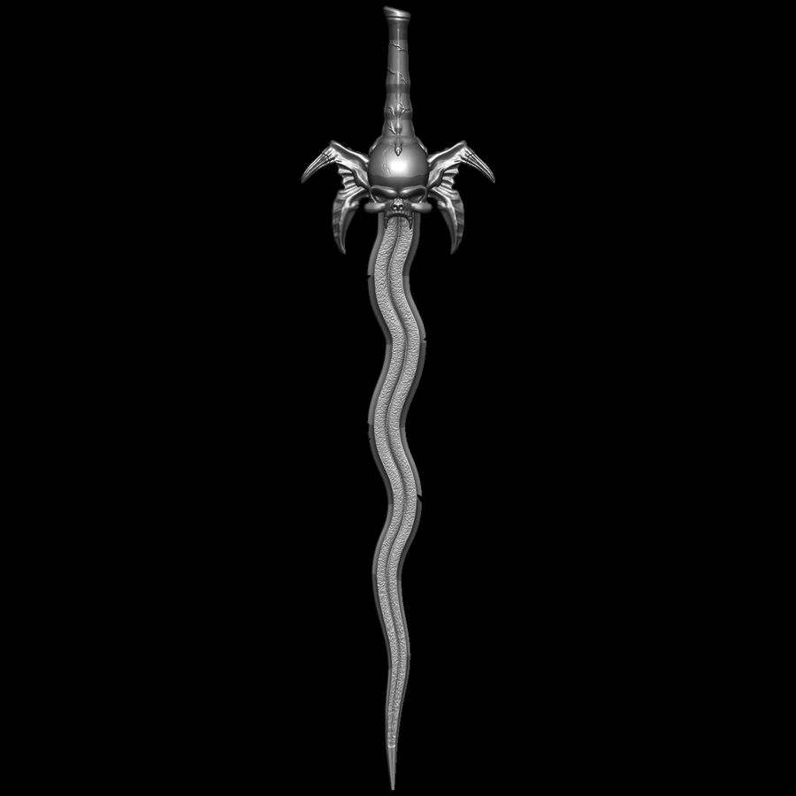 Sword Soul Reave for 3d printing royalty-free 3d model - Preview no. 16