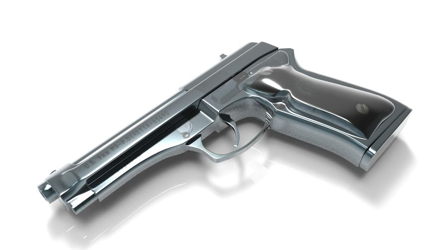 M9贝雷塔 royalty-free 3d model - Preview no. 1