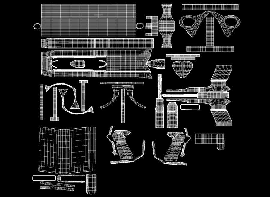 M9贝雷塔 royalty-free 3d model - Preview no. 9