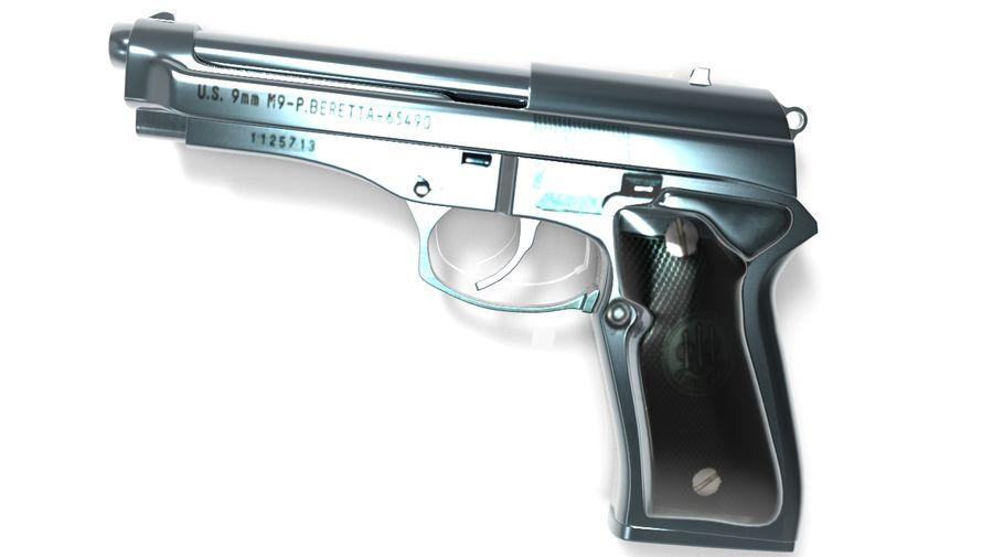 M9贝雷塔 royalty-free 3d model - Preview no. 3