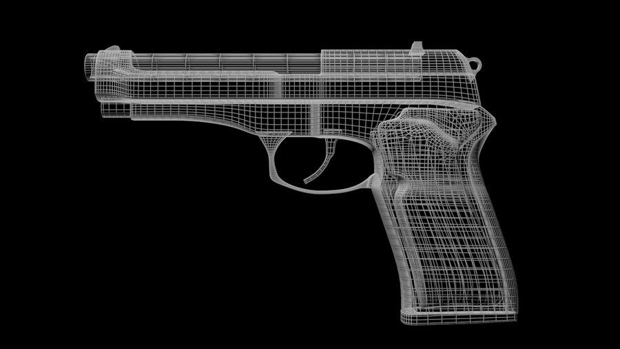 M9 Beretta royalty-free 3d model - Preview no. 8
