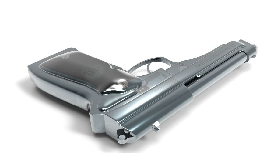 M9 Beretta royalty-free 3d model - Preview no. 2