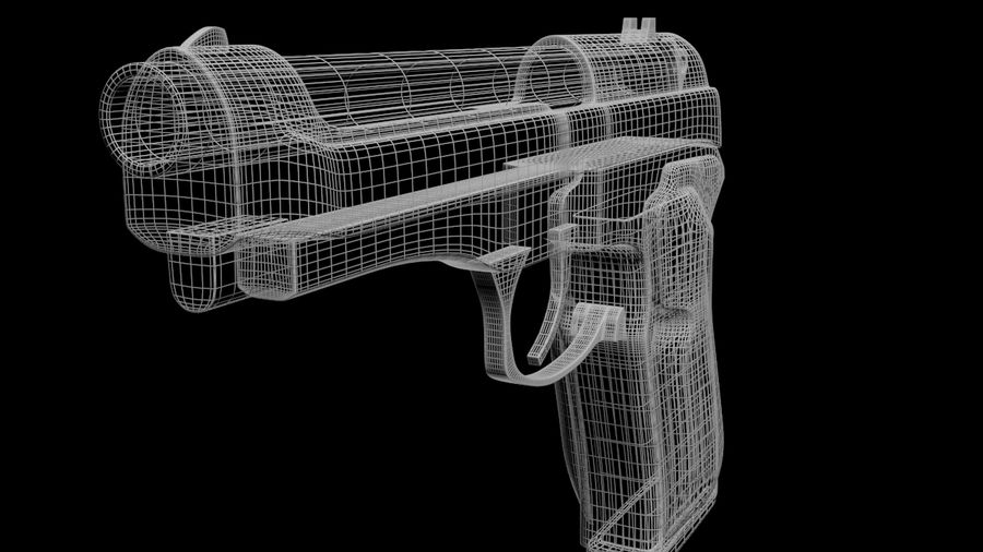 M9 Beretta royalty-free 3d model - Preview no. 7