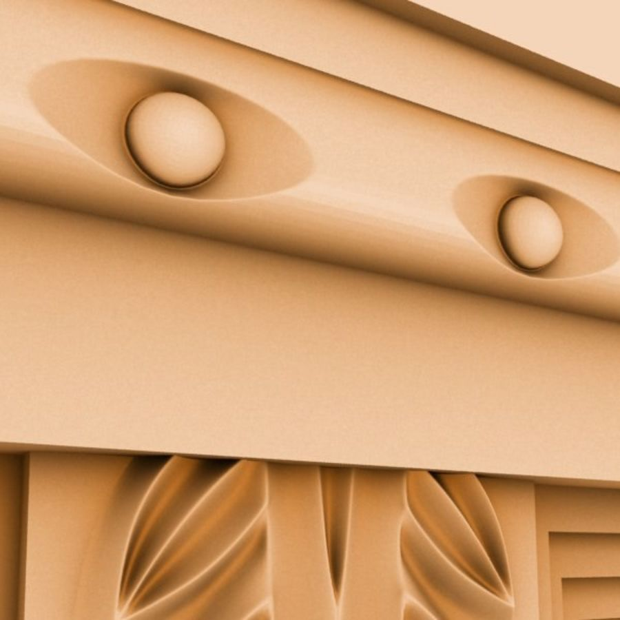 Cornice Molding 051 royalty-free 3d model - Preview no. 4