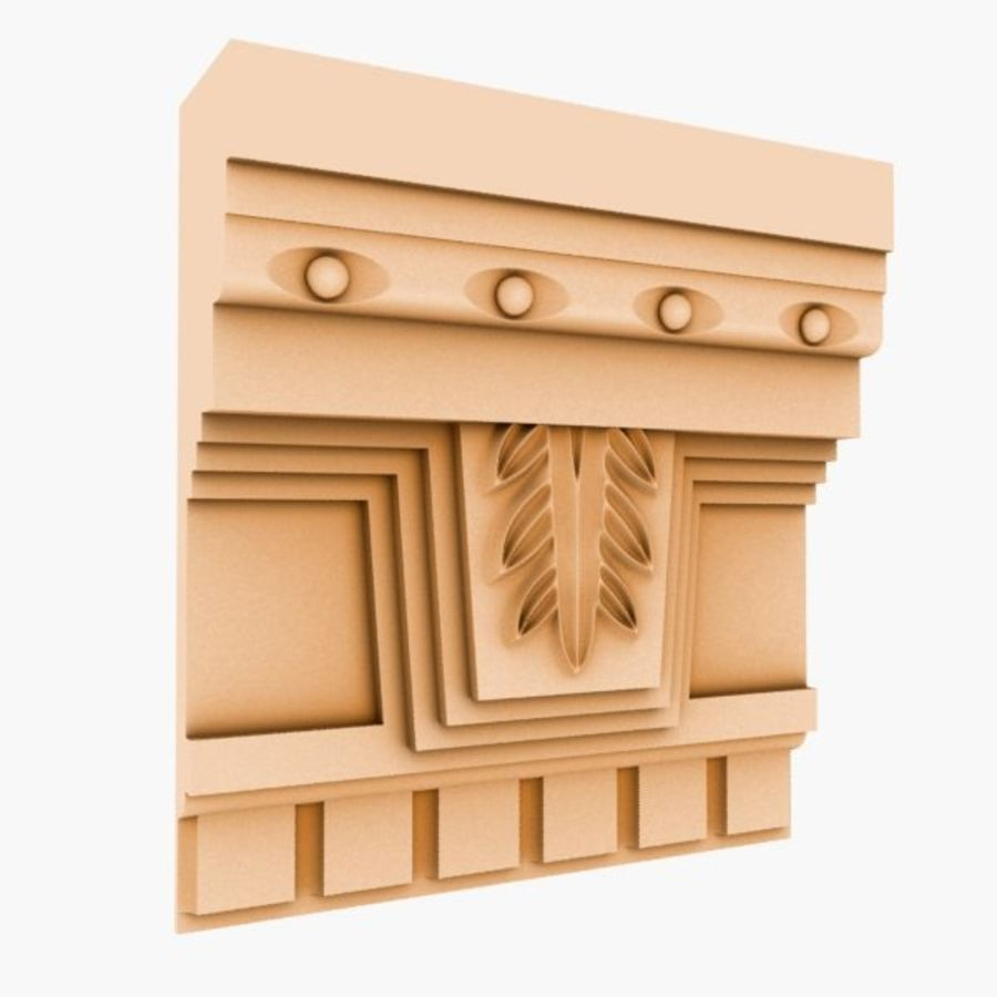 Cornice Molding 051 royalty-free 3d model - Preview no. 1