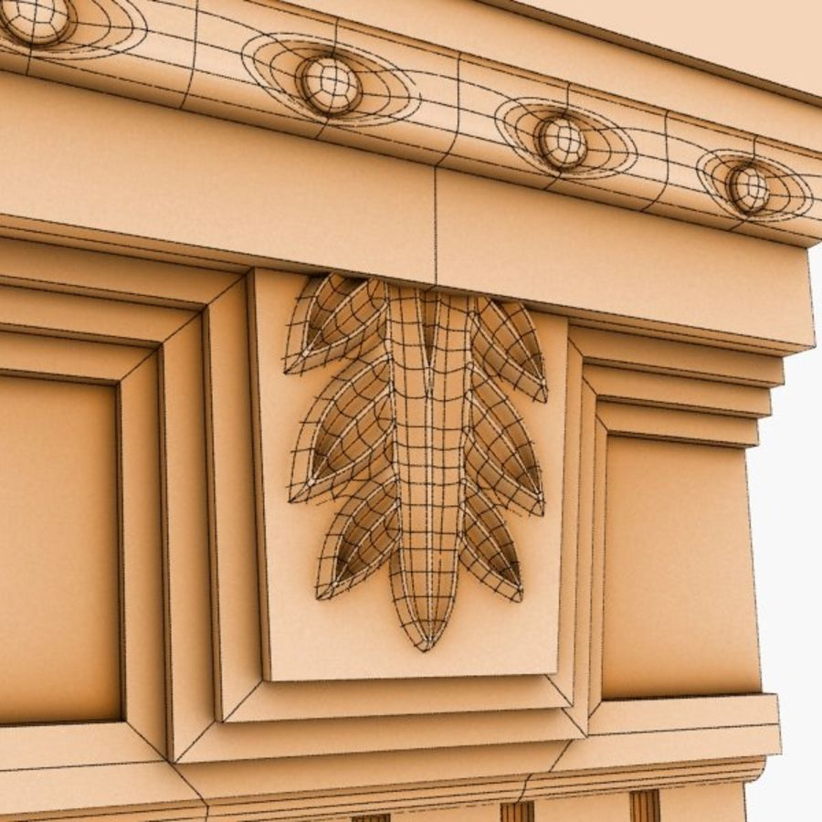 Cornice Molding 051 royalty-free 3d model - Preview no. 5