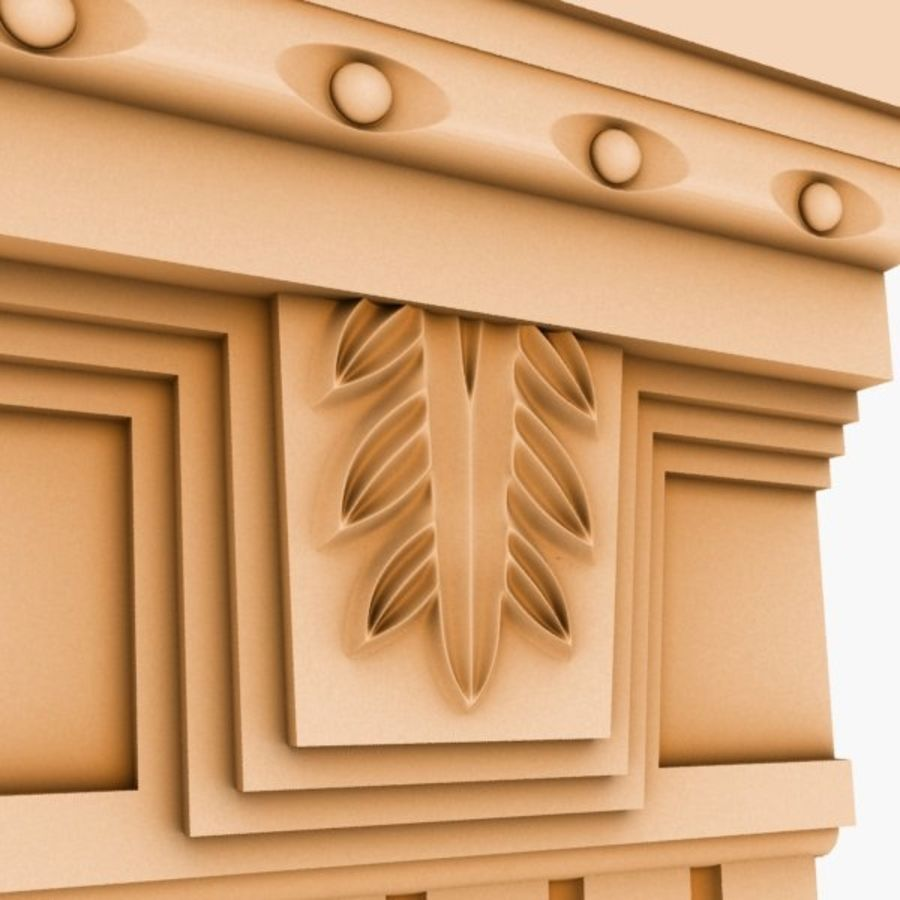 Cornice Molding 051 royalty-free 3d model - Preview no. 3