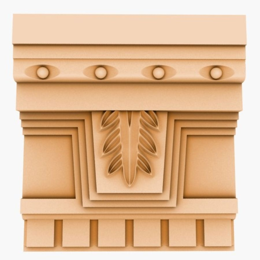 Cornice Molding 051 royalty-free 3d model - Preview no. 2