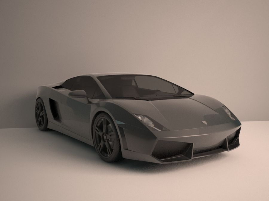 Lamborghini Gallardo LP560-4 royalty-free 3d model - Preview no. 2