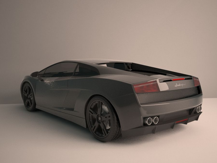 Lamborghini Gallardo LP560-4 royalty-free 3d model - Preview no. 3
