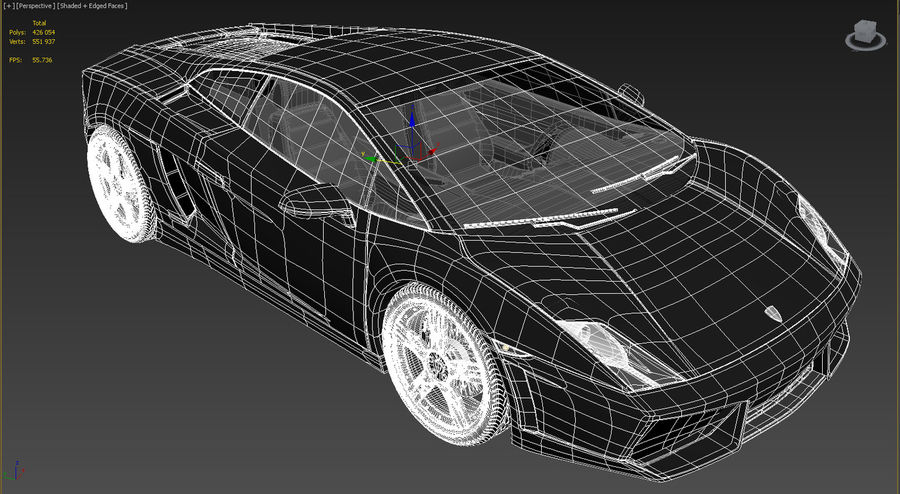 Lamborghini Gallardo LP560-4 royalty-free 3d model - Preview no. 5