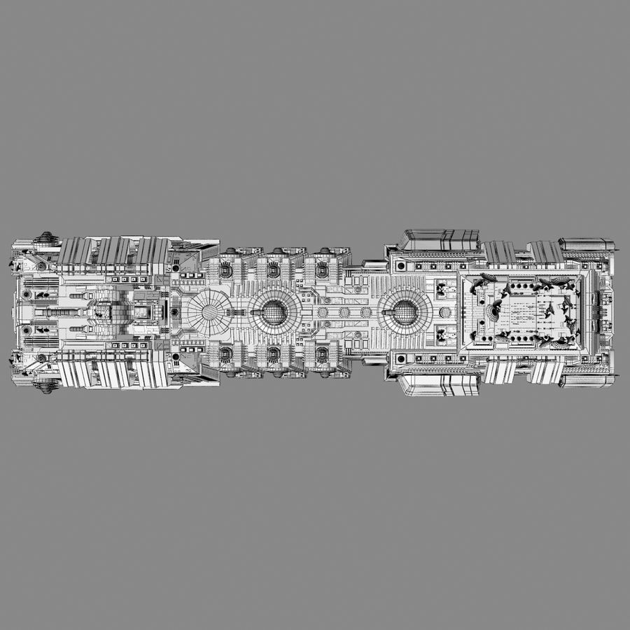 Large Spaceship 1 - Sci Fi Futuristic HD Spacecraft royalty-free 3d model - Preview no. 12