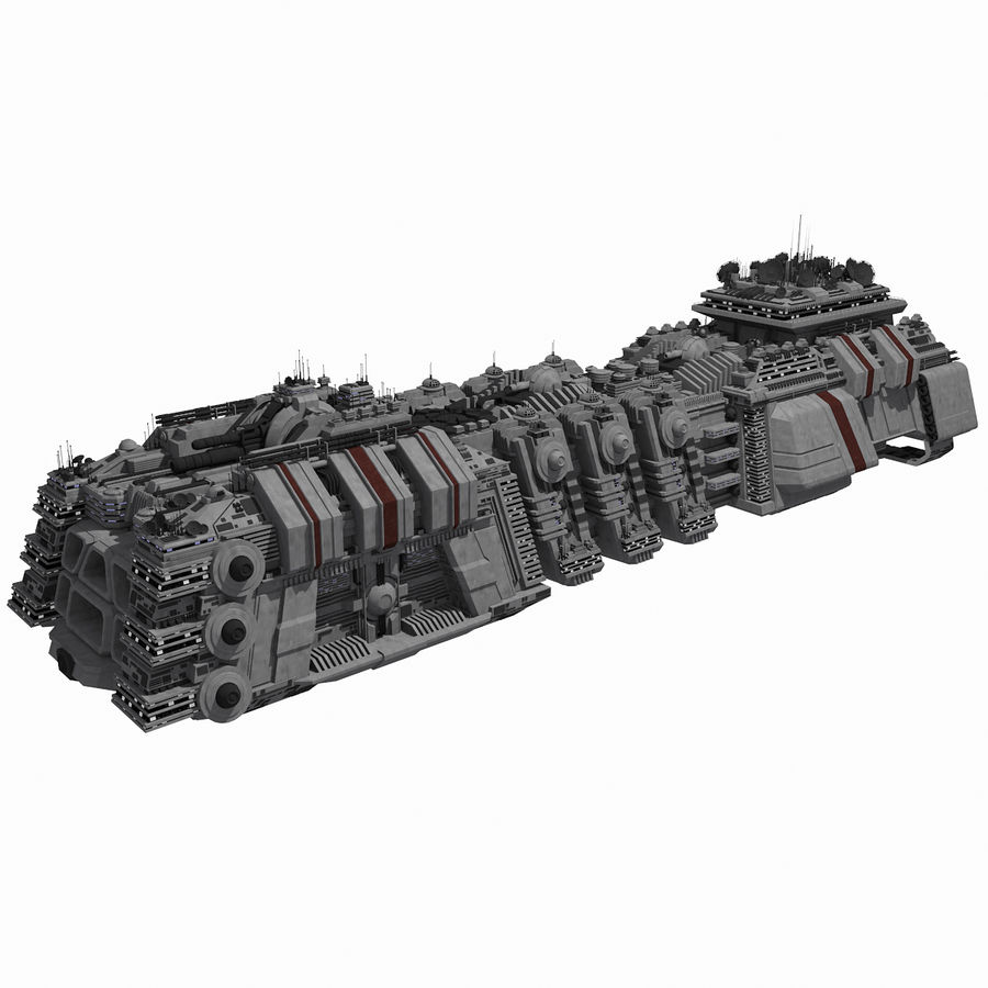 Large Spaceship 1 - Sci Fi Futuristic HD Spacecraft royalty-free 3d model - Preview no. 1