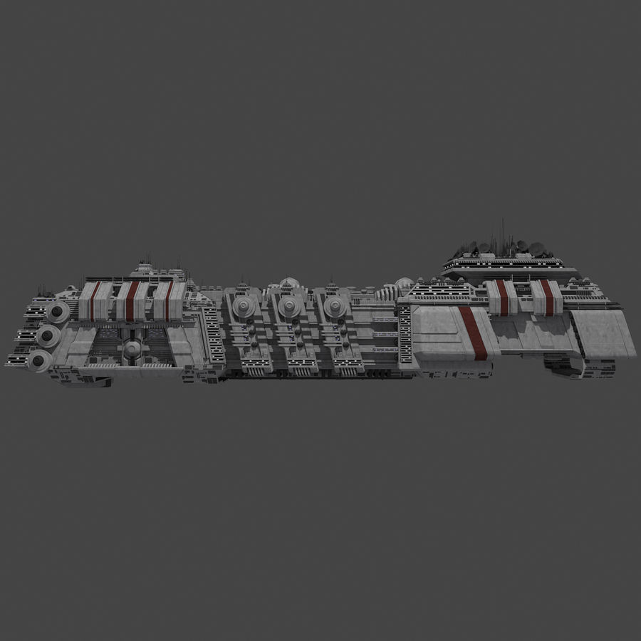 Large Spaceship 1 - Sci Fi Futuristic HD Spacecraft royalty-free 3d model - Preview no. 5