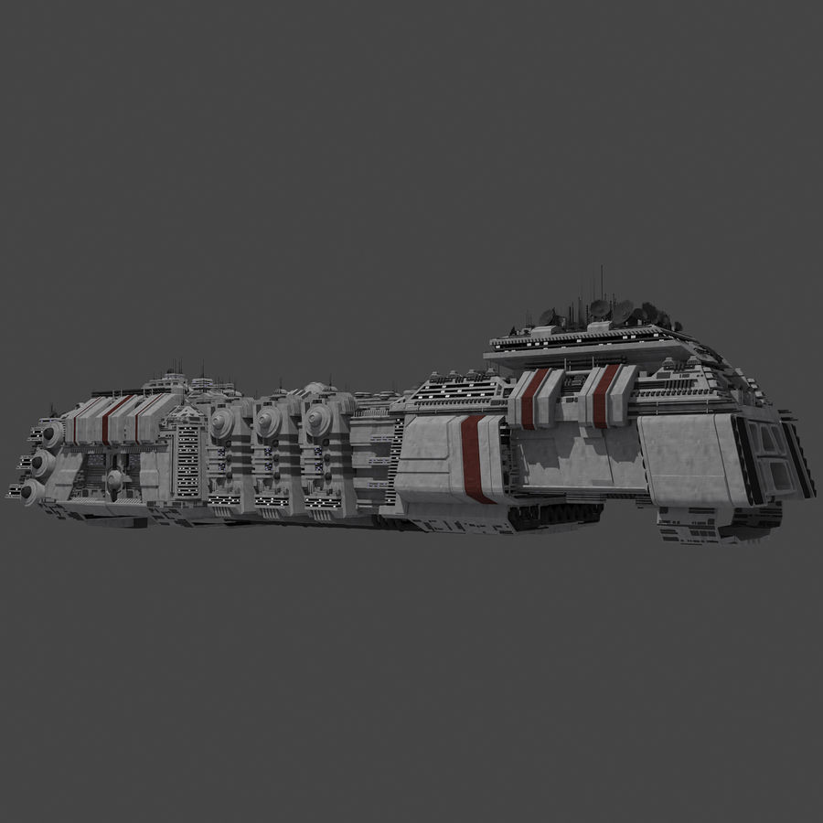 Large Spaceship 1 - Sci Fi Futuristic HD Spacecraft royalty-free 3d model - Preview no. 8