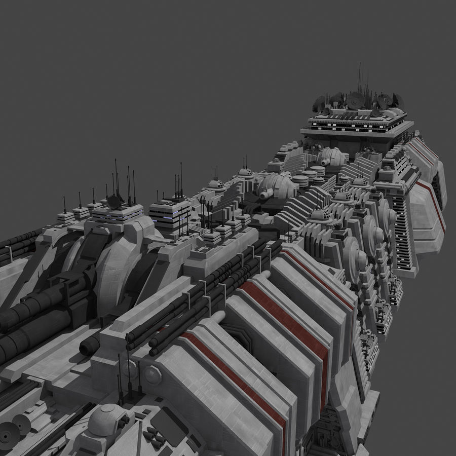 Large Spaceship 1 - Sci Fi Futuristic HD Spacecraft royalty-free 3d model - Preview no. 10