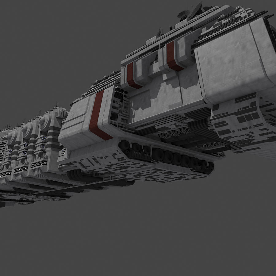 Large Spaceship 1 - Sci Fi Futuristic HD Spacecraft royalty-free 3d model - Preview no. 9