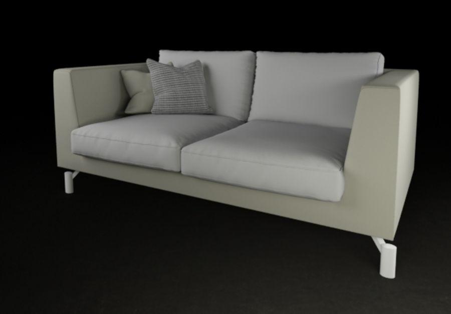 Modern Minimal Sofa High Quality Royalty Free 3d Model   Preview No. 3
