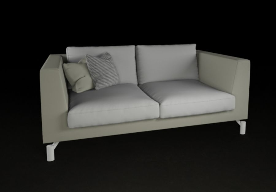Modern Minimal Sofa High Quality Royalty Free 3d Model   Preview No. 1