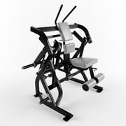 Low poly gym equipment Abdominal Oblique Crunch 3d model