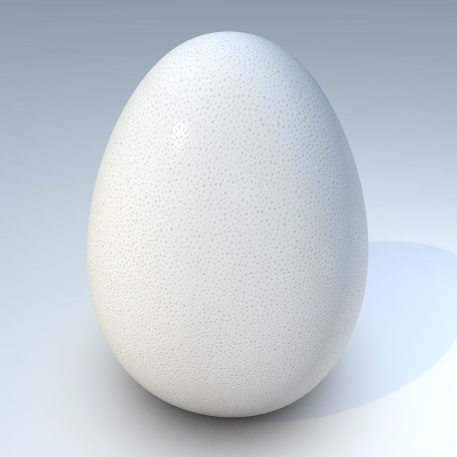 white egg royalty-free 3d model - Preview no. 2