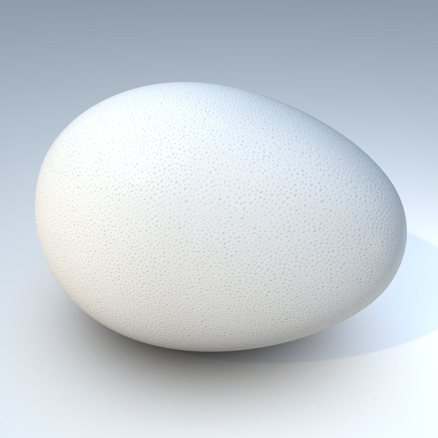 white egg royalty-free 3d model - Preview no. 3