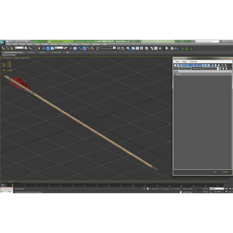 Bow Arrow 2 royalty-free 3d model - Preview no. 22