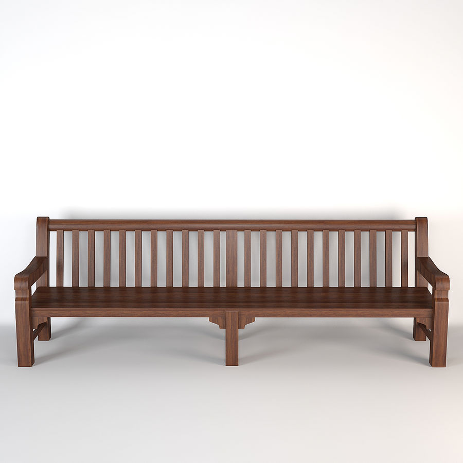 Bench Mendip Eichholtz royalty-free 3d model - Preview no. 2
