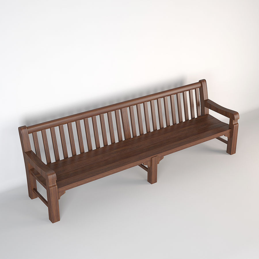 Bench Mendip Eichholtz royalty-free 3d model - Preview no. 3