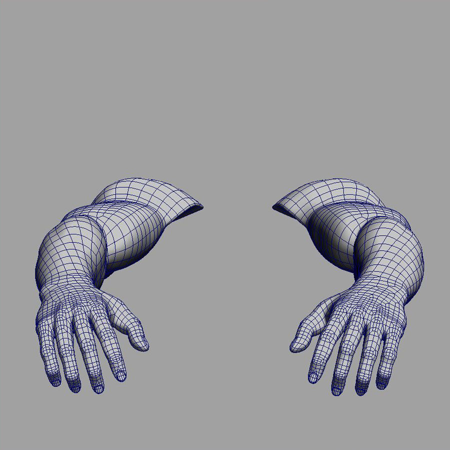 hand royalty-free 3d model - Preview no. 10