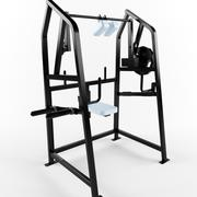 Low poly gym equipment 4 way neck pl4w 3d model