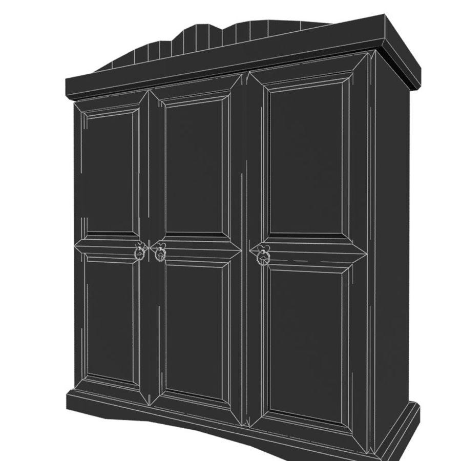 Collection de meubles de chambre royalty-free 3d model - Preview no. 29