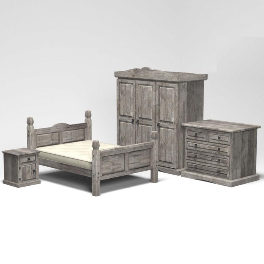 Collection de meubles de chambre royalty-free 3d model - Preview no. 2