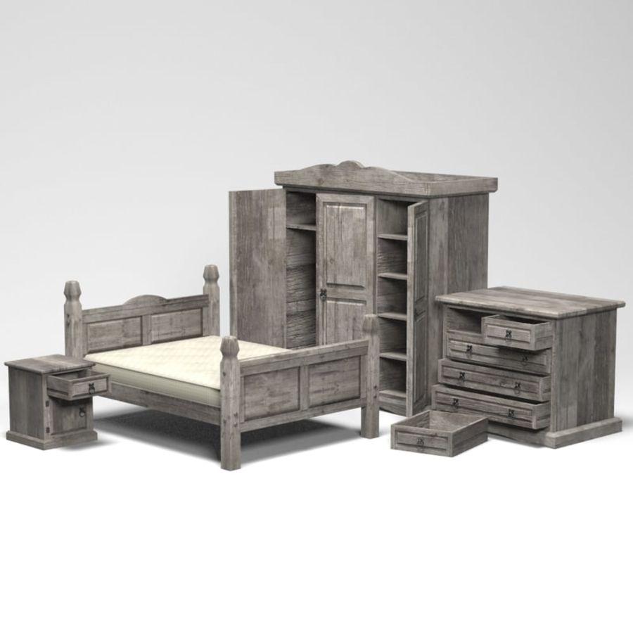 Collection de meubles de chambre royalty-free 3d model - Preview no. 3