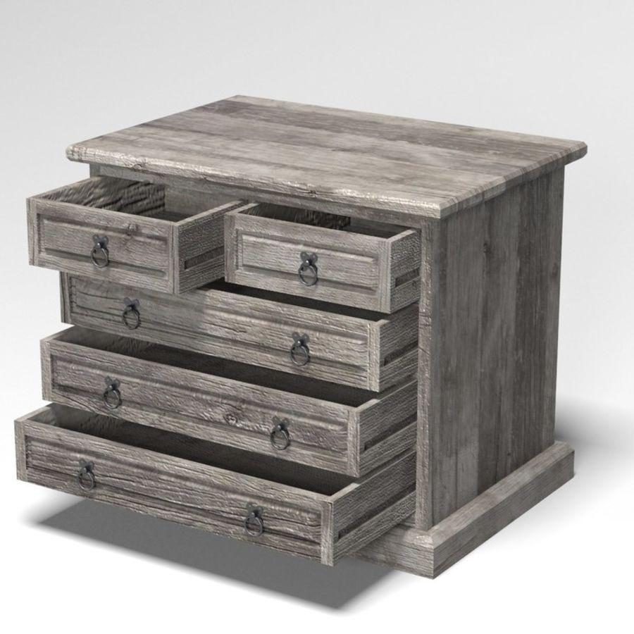Collection de meubles de chambre royalty-free 3d model - Preview no. 19