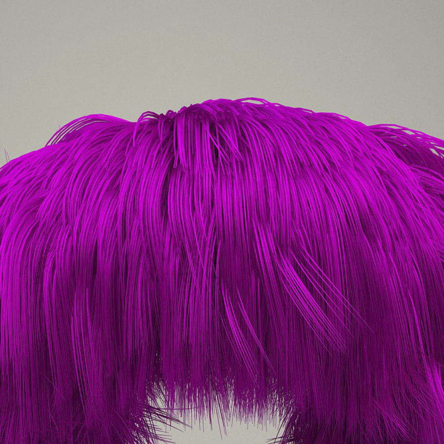 C4D realistic hair or fur royalty-free 3d model - Preview no. 1