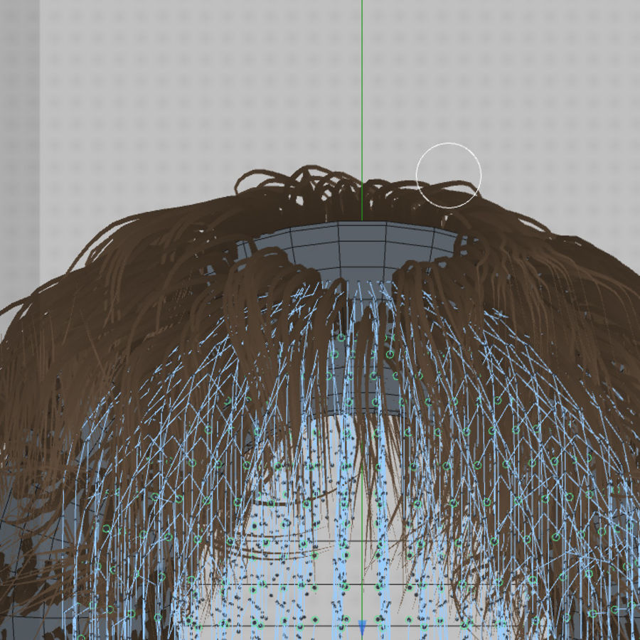 C4D realistic hair or fur royalty-free 3d model - Preview no. 6