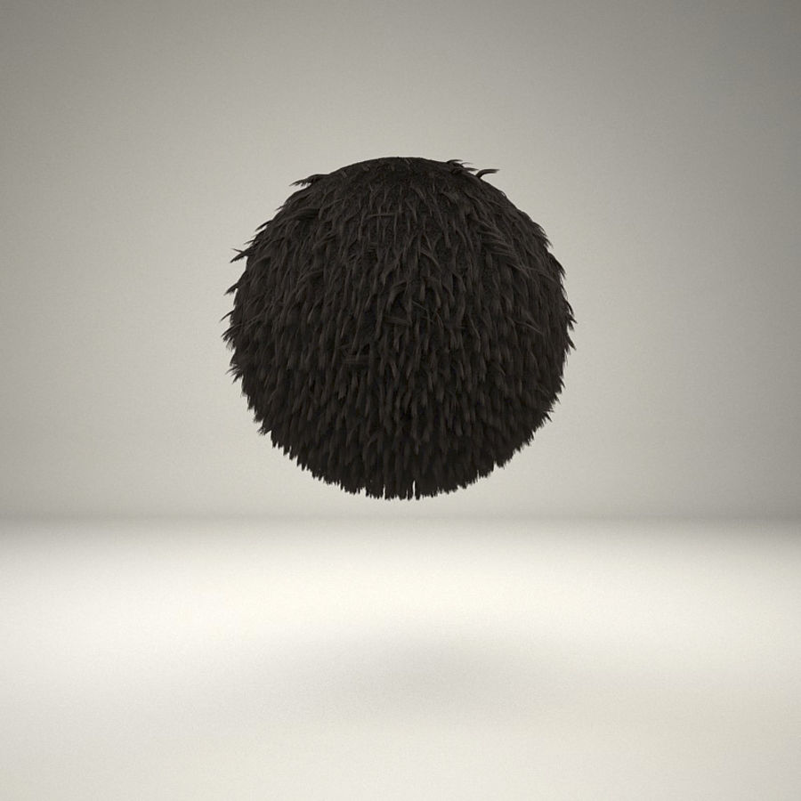 C4D realistic hair or fur royalty-free 3d model - Preview no. 4