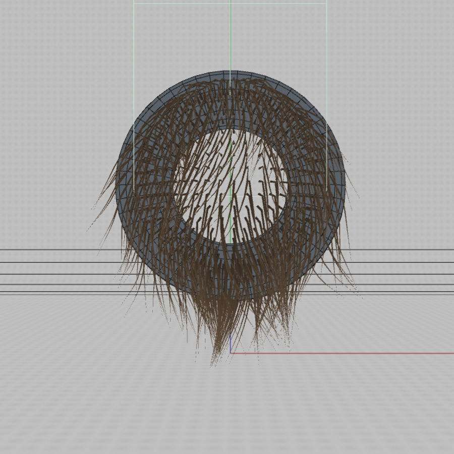C4D realistic hair or fur royalty-free 3d model - Preview no. 5
