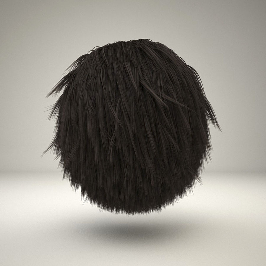 C4D realistic hair or fur royalty-free 3d model - Preview no. 3