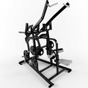 Low poly gym equipment pulldown 3d model