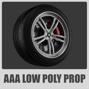 AAA - neumático Yokohama avs es 100 X (low + mid poly) modelo 3d