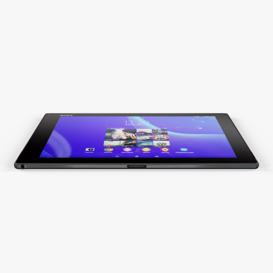 Sony Xperia Z2 Tablet Black royalty-free 3d model - Preview no. 7