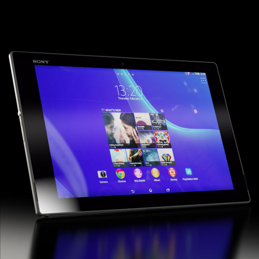 Sony Xperia Z2 Tablet Black royalty-free 3d model - Preview no. 2