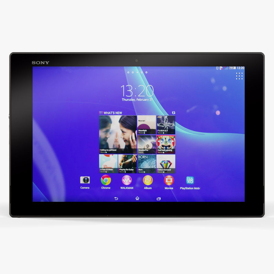 Sony Xperia Z2 Tablet Black royalty-free 3d model - Preview no. 3