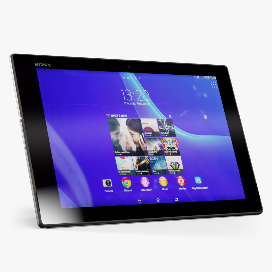 Sony Xperia Z2 Tablet Black royalty-free 3d model - Preview no. 1