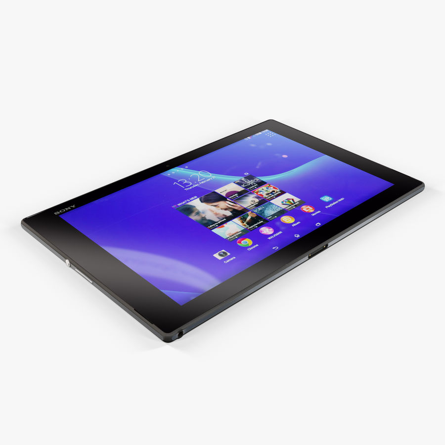 Sony Xperia Z2 Tablet Black royalty-free 3d model - Preview no. 6