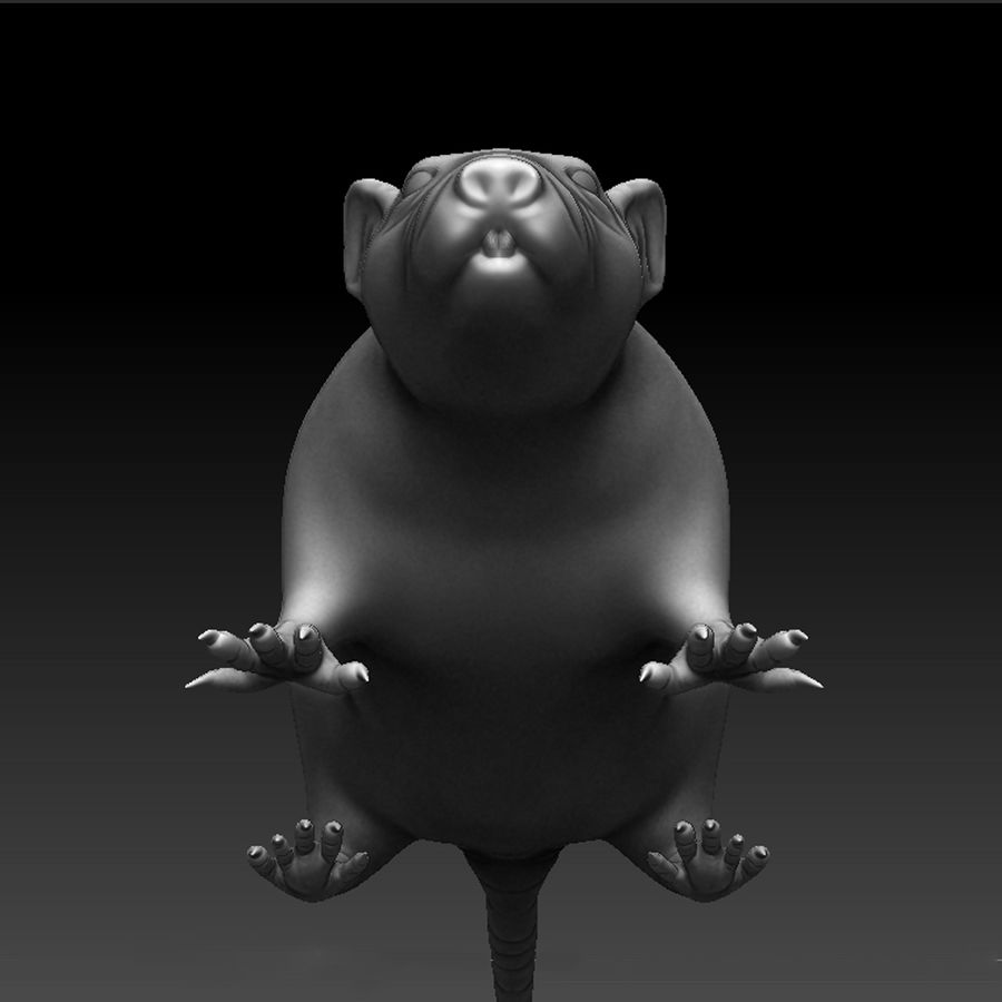 Sculpted Rat royalty-free 3d model - Preview no. 3
