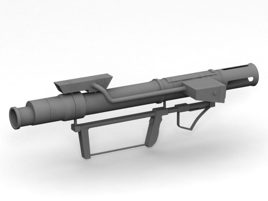 bazooka royalty-free 3d model - Preview no. 6